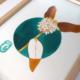 Dessin original à l'encre colorée - oeuvre unique - Daphné - série Fleurs hivernales